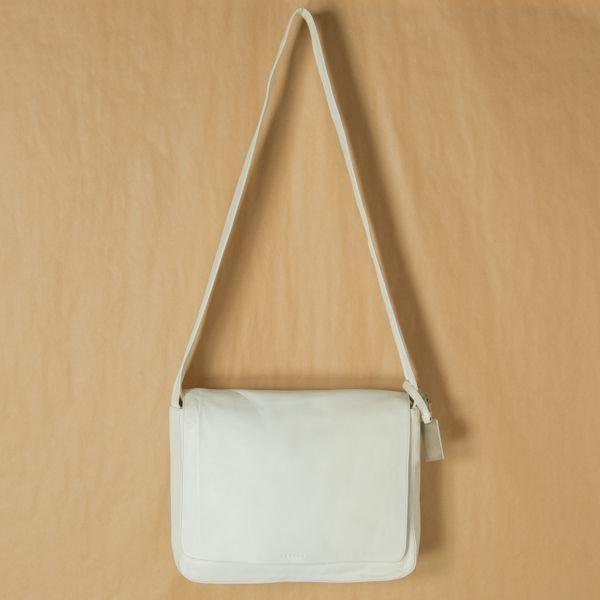 Celine Bag Leather Shoulder White