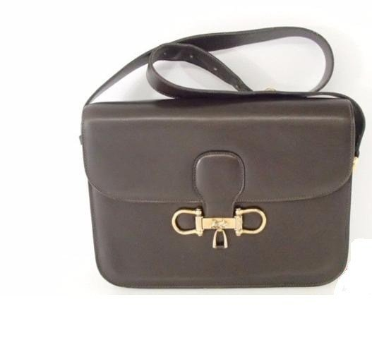 Celine Horse-Drawn Carriage Bracket Leather Shoulder Bag