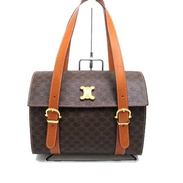 Celine leather basket-type bag