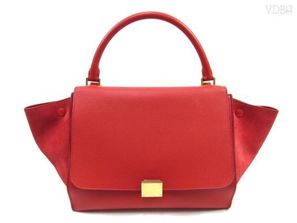 Celine Red Trapeze 2way Handbag