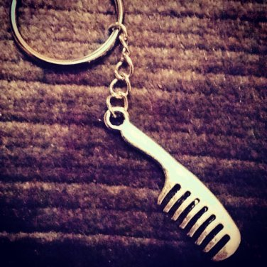 Metal Beard Comb Keyring