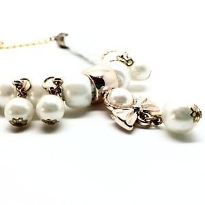 WOMEN'S WHITE NECKLACE WITH BOW PENDANT WITH AN URBAN STYLE