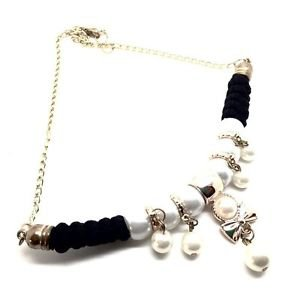 WOMEN'S BLACK NECKLACE AND BOW PENDANT WITH AN URBAN STYLE