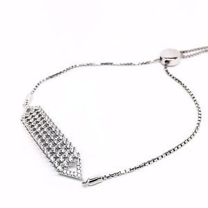 925 STERLING SILVER COLOUR CRYSTAL BRACELET