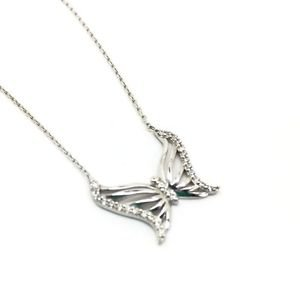 925 STERLING SILVER BUTTERFLY NECKLACE (PENDANT & CHAIN)