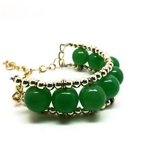 WOMEN'S GREEN BEADED BRACELET