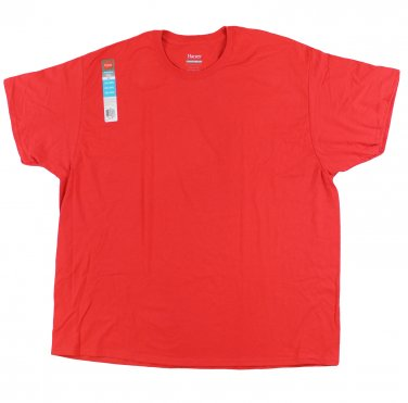 Big Men's Red Jersey T-Shirt XXLarge