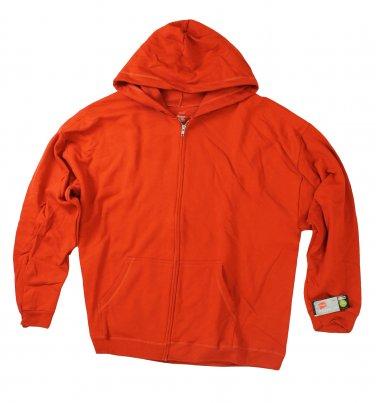 Mens Fleece Zipper Hoodie Campfire XXLarge