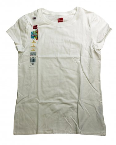 Girls Cotton Jersey T-Shirt White Large