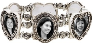 Silver Photo Stretch Bracelet
