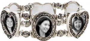 Silver Photo Stretch Bracelet