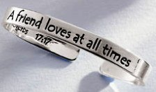 Silver Plated Proverb Bracelet