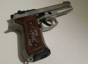 Denzel Washington signed prop pistol