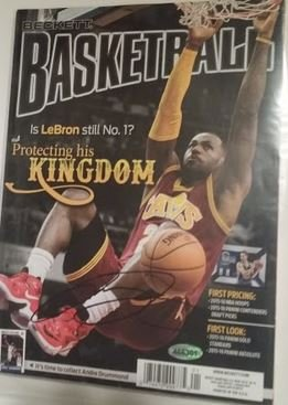 LeBron James signed Magazine 2