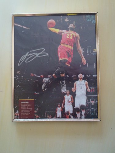 LeBron James framed autograph 1