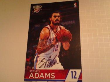 Steven Adams signed pamphlet