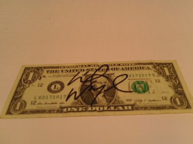 Lil Wayne signed Dollar Bill