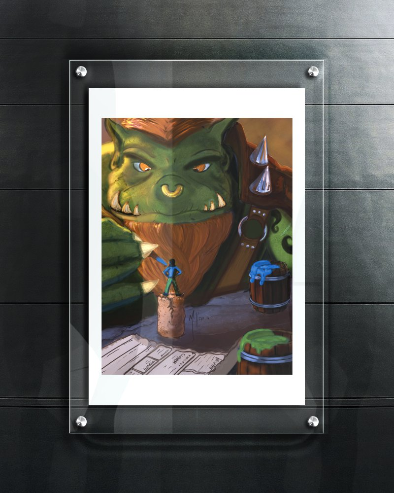 Monster Painting Minis (12 x 18 Print)
