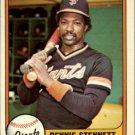 1981 Fleer 438 Rennie Stennett