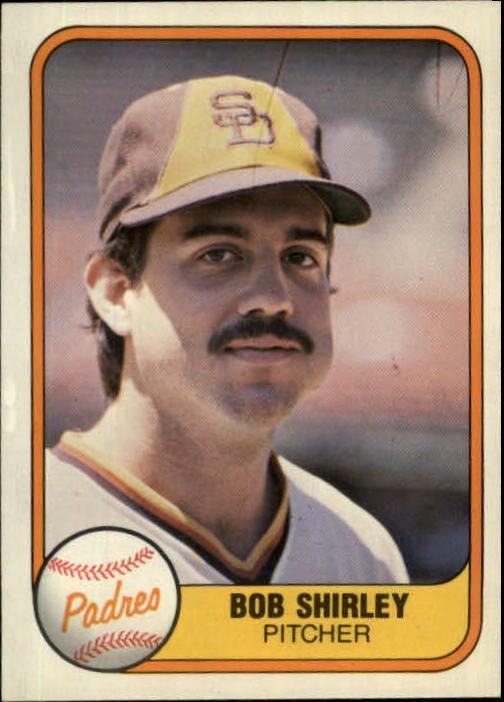 1981 Fleer 495 Bob Shirley