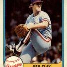 1981 Fleer 633 Ken Clay