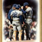 1987 Topps 56 Brewers Team/(Mound conference)
