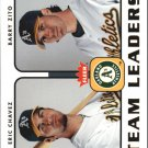 2006 Fleer Team Leaders TL19 E.Chavez/B.Zito