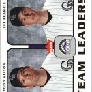 2006 Fleer Team Leaders TL9 T.Helton/J.Francis