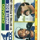 1982 Topps 216 White Sox TL