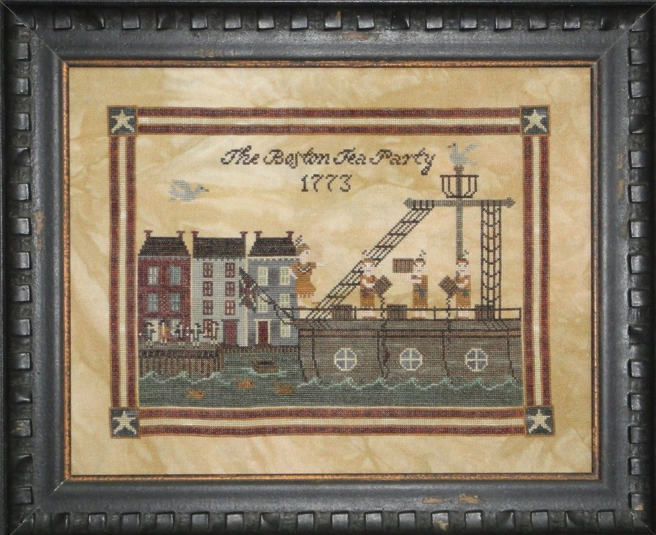 Boston Tea Party cross stitch pattern