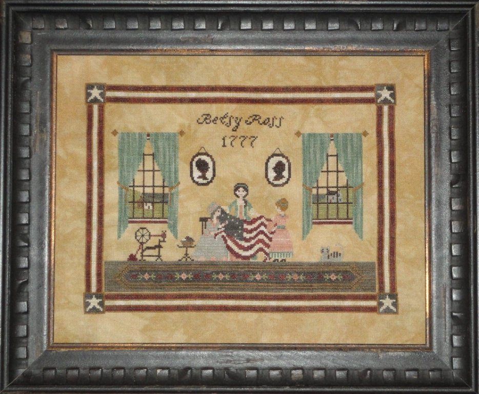 Betsy Ross cross stitch pattern by Willow Hill Samplings
