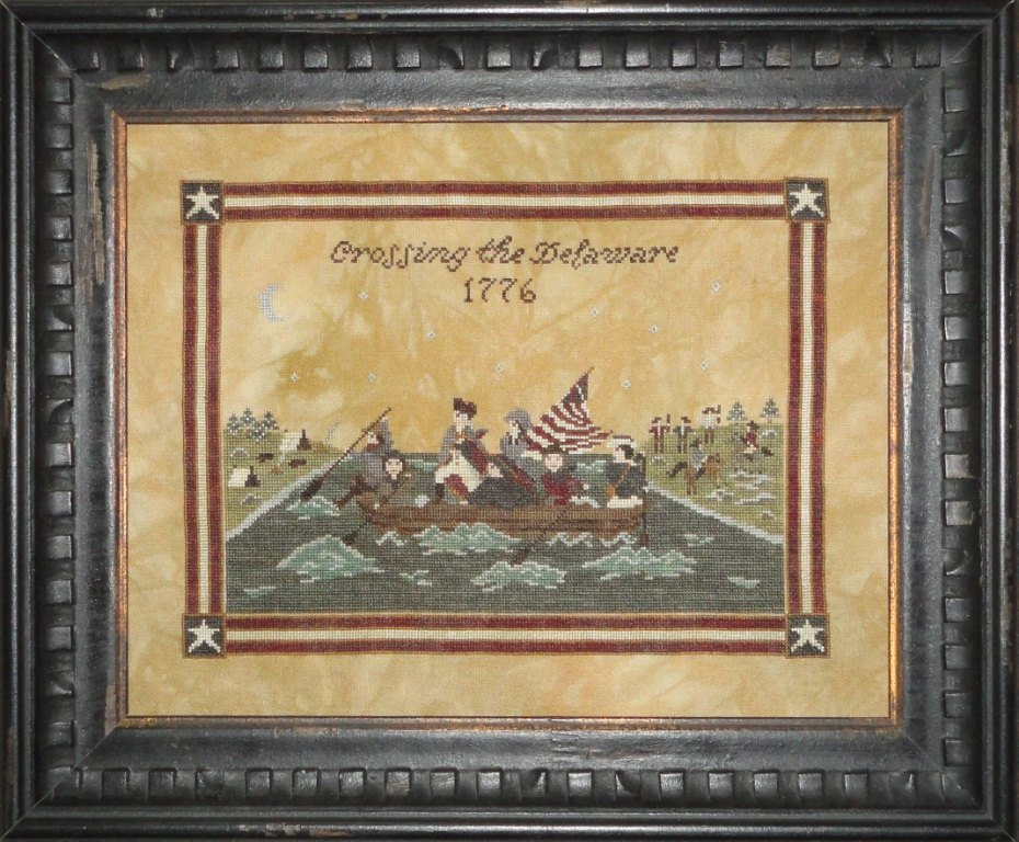 Crossing the Delaware cross stitch pattern by Willow Hill Samplings