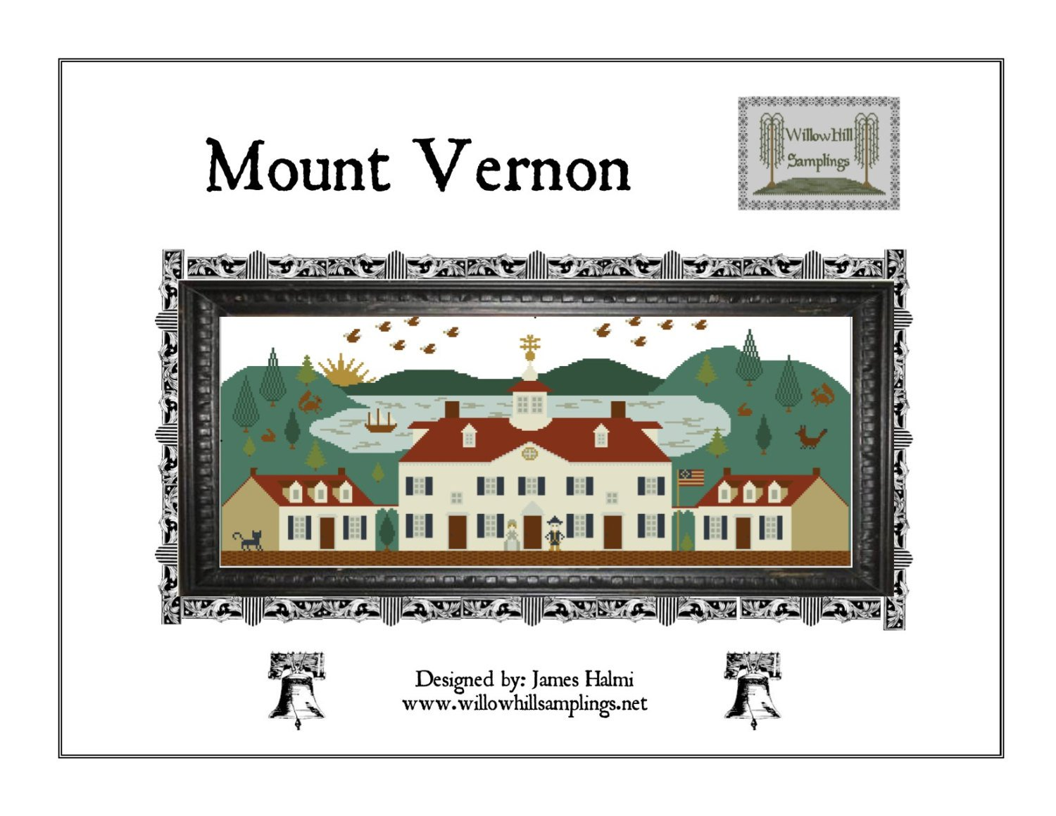 Mount Vernon Cross Stitch Pattern by Willow Hill Samplings