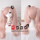 Junko Enoshima Light Pink Cosplay Wig Danganronpa Dangan Ronpa Hair Ponytail Wigs