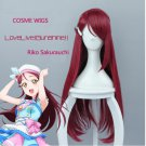 Love Live Sunshine Riko Sakurauchi High Quality Purple Red Long Hair Wigs Anime Cosplay Wig