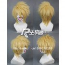 Anime Amnesia TOMA Cosplay Party Short Blonde Wig Costume + CAP
