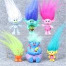6pcs Trolls Action Figure Play Set Movie Cartoon Magic Long Hair Dolls Toys Kids Children Gift