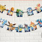pokemon go Pikachu banner bunting pennant Kids Birthday Party Decoration