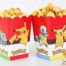 6pcs/lot cartoon pokemon go Pikachu Kids Party Supply Popcorn Box case Gift Box