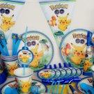 130pcs Cartoon Anime pokemon go Pikachu Kids Birthday Decoration Set Theme Party Supplies