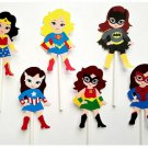 Girl Superhero Cupcake Toppers Birthday Party Decorations Party Supplies Birthday Party