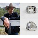 JUSTIFIED Horseshoe Ring Marshal Raylan Ring US8~12