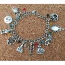 1pc a lot beauty and beast Charm Bracelet MEINSUD01