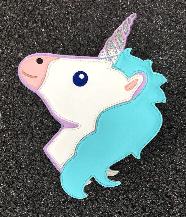 fashion trends laser unicorn modeling mini chain shoulder bag ladies handbag blue