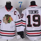 #19 Jonathan Toews Chicago Blackhawks Ice Hockey Jerseys color white