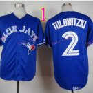 Top Quality ! Toronto Blue Jays Jersey Troy Tulowitzki #2 Jerseys Blue