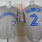 Top Quality ! Toronto Blue Jays Jersey Troy Tulowitzki #2 Jerseys gray
