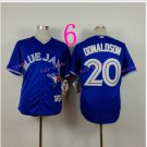 Top Quality ! Toronto Blue Jays Jersey Troy Donaldson #20 Jerseys blue