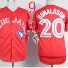 Top Quality ! Toronto Blue Jays Jersey Troy Donaldson #20 Jerseys red