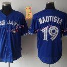 Top Quality ! Toronto Blue Jays Jersey Troy Bautista  #19 Jerseys blue